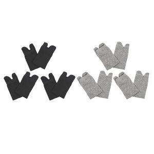 6 Paar Uni Kurzsocken, Kurze Zwei-Zehen-Socken aus Polyester, Zwei Zehensocken