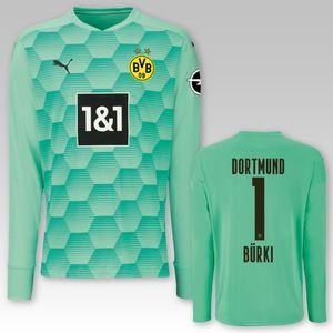 BVB Torwarttrikot grün Saison 2020/21, Größe:140, Spielername:1 Bürki