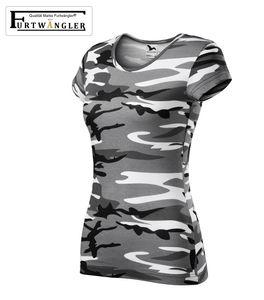 T-Shirt Furtwängler Pure Damenshirt 150g/m² Camouflage grau Größe M