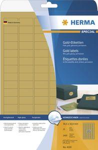 Etiketten A4 gold 63,5x38,1 mm Folie glänzend 525 St.