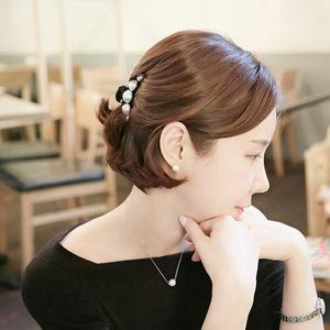 2er Pack Vintage Haarklammer Haargreifer mit Perlen Haarkralle Haarschmuck Kopfschmuck Haarspange für Damen Hochzeit Schmuck