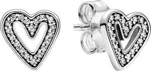 Pandora Ohrstecker 298685C01 Sparkling Freehand Heart Silber 925 Ohrringe