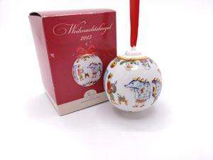 Porzellankugel Weihnachtskugel 2013 - Hutschenreuther - in