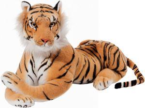 Brubaker Tiger Kuscheltier 45 cm - liegend Stofftier Plüschtier - Braun