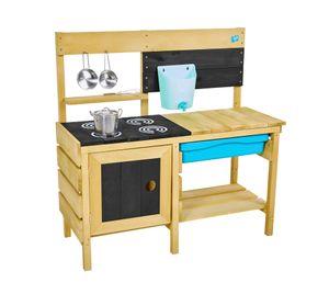 TP Toys Spielküche 40x136x96 cm Deluxe Outdoorküche Matschküche inkl. Zubehör