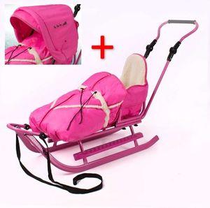 Luxus Schlitten pink-pink incl. Verdeck NEU