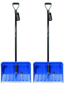 2x Schneeräumer Schneeschieber Schneeschaufel Alpinus blau stark Schaufeln