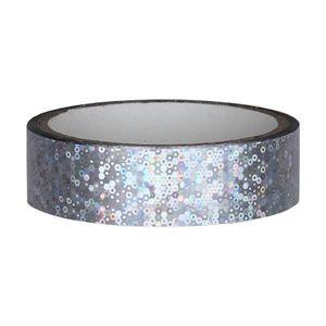 Glitter Deko Klebeband 25mm x 30m, Silber