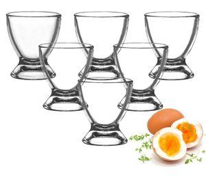 Eierbecher aus Glas Eierständer Eierhalter Glaseierbecher 6-12-tlg. (12 Stück)