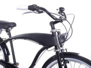 Fahrrad XXL Lenker breit hoch und bequem Beach Cruiser CITY BIKE schwarz