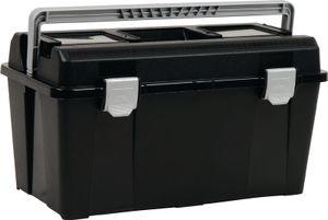 raaco Werkzeugkoffer Breite 480 x Höhe 258 x Tiefe 255mm aus Polypropylen mit Schnappverschluss schwarz / silber - 715164