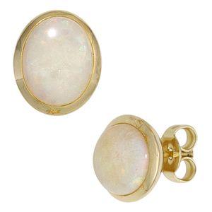 JOBO Ohrstecker 585 Gold Gelbgold 2 Opale Ohrringe