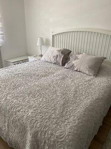 Tagesdecke, Bettüberwurf  Kissenbezug  6-teilig Grau 220cm x 240cm