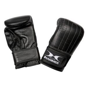 Hammer Sandsackhandschuhe Punch, Rindsleder, vorgekrümmt, schwarz, Gr. S-M