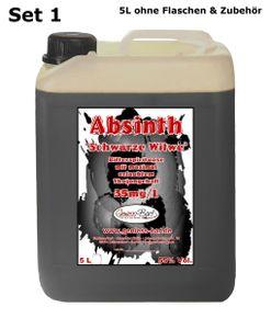 Schwarzer Absinth 5L Mit max. erlaubtem Thujon 35mg 55%Vol