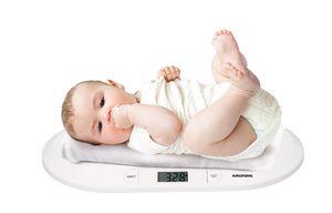 Grundig Babywaage, Digitale Kinderwaage mit LED Anzeige, Gewichtskontrolle bis 20 kg, Weiß