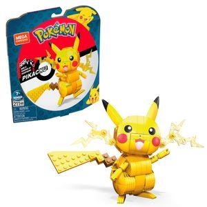 Mega Construx Pokémon Medium Pikachu, Kinder-Spielzeug, Bauset, Bausteine