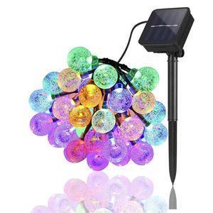 LED Au?en Lichterkette Solar Outdoor 6.5M 30 LEDs Lampions Wasserfest Deko Solar/Akkubetrieben Garten Terrasse Balkon Mehrfarbig