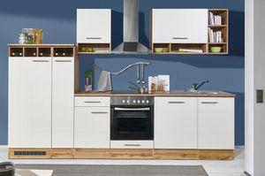 Mavan 310 Küchenzeile Küchenblock Weiß Wildeiche