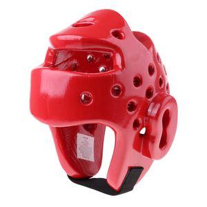 MMA Kopfschutz Kopfbedeckung Kopfschutzhelm Boxhelm für Kampfsport MMA Boxen Kickboxen Training Sparring rot wie beschrieben