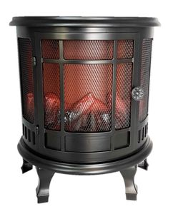 LED Standkamin mit Beinen Flammeneffekt Kaminfeuer 30 x 35 x 15,5  cm Kamin