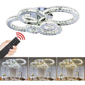 Hengda Kristall Deckenlampe Haengeleuchte 96W Luxus Luester Haengelampe LED Deckenleuchte