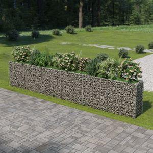 Gabionen-Hochbeet Garten-Hochbeet Hochbeet Verzinkter Stahl 540×50×100 cm