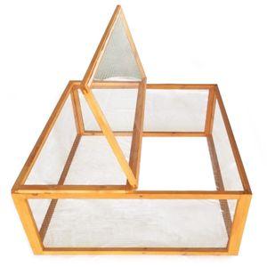 Freilaufgehege Holz Quadrat mit Abdeckung Kleintierstall Kaninchen