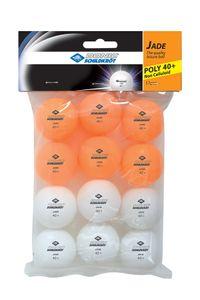 Donic-Schildkröt Tischtennisball Jade, Poly 40+ Qualität, 12 Stk. im Polybag, 6x weiß / 6x orange