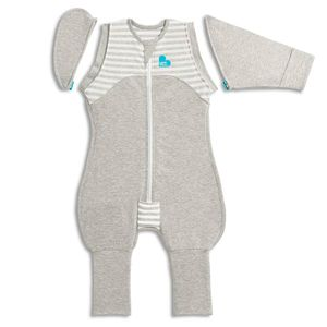 Love to Dream Baby-Pucksack Swaddle Up Transition Suit Stufe 2 M Grau