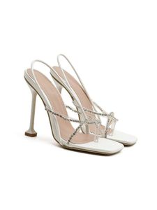 (Weiß,42)Damen High Heels Sommer Stilettos Offene Zehen Sandalen Mode Flip Flops