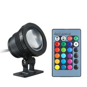 12V 10W LED RGB Teichbeleuchtung Unterwasserscheinwerfer mit Fernbedienung 16 Farben 4 Lichteffekte IP65 Wasserdicht (meist 1m) fuer Pool Aquarium Teich Spray Brunnen