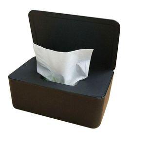 Feuchttuch Tissue Aufbewahrungsbox Feuchttücherbox Tissuebox mit Deckel Black
