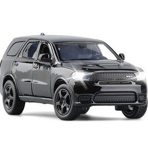 SanBeans Hohe Simulation 1/32 Dodge Durango SRT Geländewagen SUV Metall Metall Druckguss Modell Sound Light Lenkung Spielzeug Jungen Geschenke | Druckguss & Spielzeug Fahrzeuge