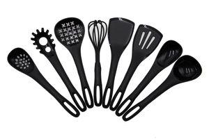 Küchenhelferset, 8-teilig, mit Aufhängeschlaufe, schwarz