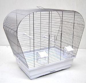 Vogelkäfig Vogelheim für Sittiche chrom weiß 60 cm