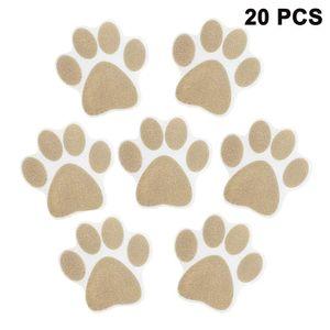 Anti-Rutsch Sticker als Fußabdruck für Duschen & Badewannen 20 Stück, (braun)