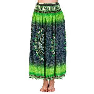 PANASIAM Skirt Viskose Summerskirt, Farbe/Design:Maoi Grünton