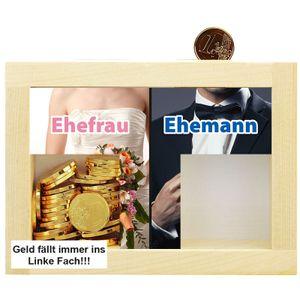 Trend Spardose Ehefrau Ehemann Mann Frau Spardose Holz Hochzeitsgeschenk