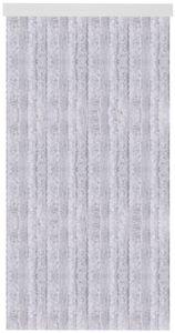 Flauschvorhang 80x185 cm in Unistreifen grau, viele Farben