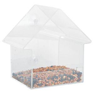 Esschert Design Acryl Fensterfutterhaus - inklusive zwei Saugnäpfen - geeignet zur Befestigung an einer Scheibe oder Wand; FB370