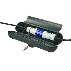 Sicherheitsbox CEE Stecker Kabelschutz mit Schloss Schuko Kabelbox Ø110mm Steckerschutz 1 Stück