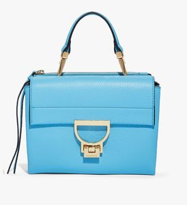 Coccinelle Arlettis mini suede Handtasche blau