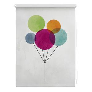 Rollo Klemmfix, ohne Bohren, blickdicht, Ballon - Bunt 80 x 150 cm (B x L)