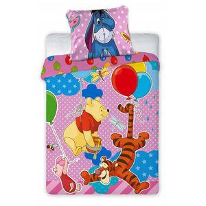 Winnie Pooh Disney Kleinkind Kinderbettwäsche Set 100x135 40x60cm Garnitur Rosa