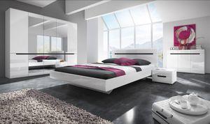 Schlafzimmer Set 5 tlg GALAXY inkl.Doppelbett 180cm und Schrank 225cm