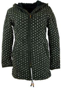 Lange Strickjacke, Warme Wolljacke, Nepal Jacke - Anthrazit, Damen, Schwarz, Wolle, Größe: XL