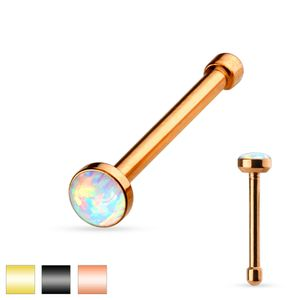 Stahl - Nasenstecker - Opalit Gold