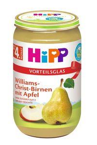 HiPP Früchte nach dem 4.Monat, Williams-Christ-Birne mit Apfel, DE-ÖKO-037 - VE 250g