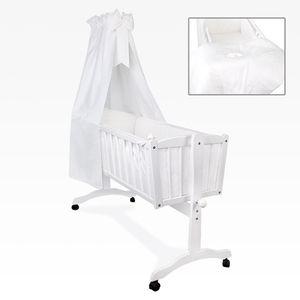 Bettset 5-tlg. für die Babywiege Schaukelwiege Sleeping Bear in Weiß